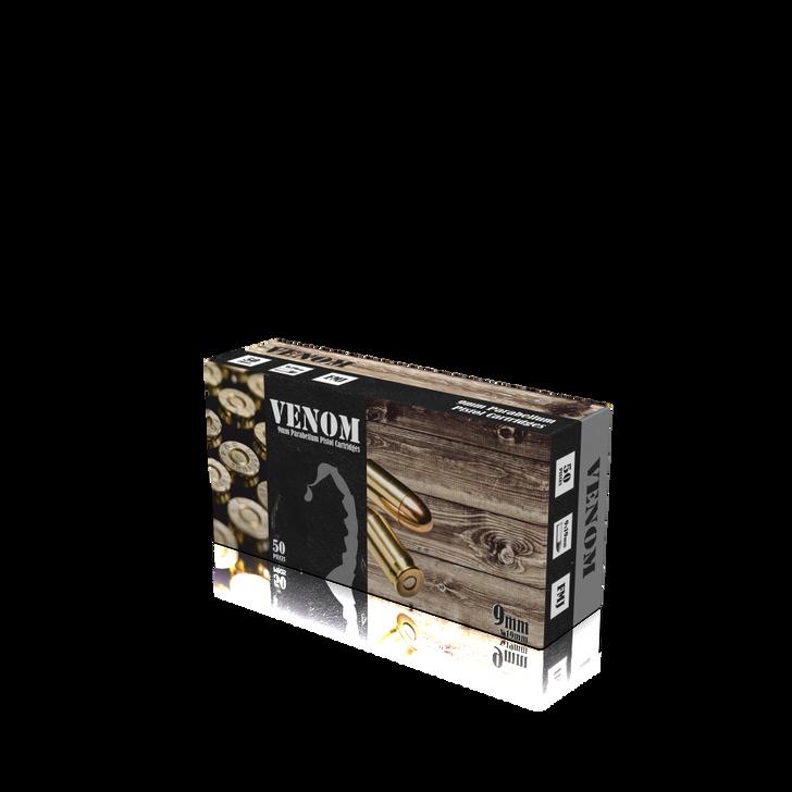 VENOM 9MM 115gr FMJ New Brass - 50rd Box - Limit 6