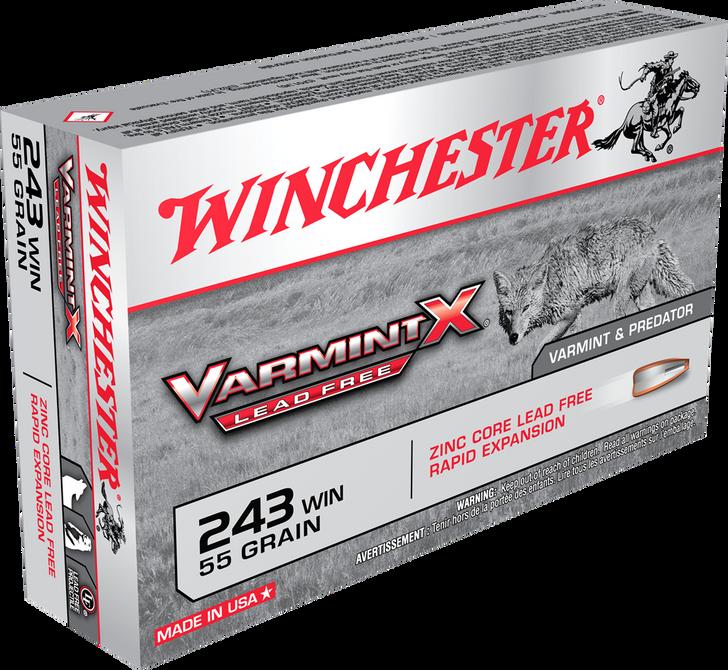 WINCHESTER .243 Win VARMINT X - Lead Free -  55GR - 20RD BOX - X243PLF