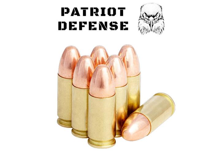 Patriot Defense 9MM 115GR FMJ - REMAN BRASS - 250 Rounds Bulk - Limit 1