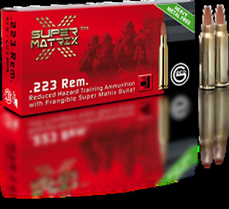 Geco .223 Rem - Super Matrix Frangible - 51Gr - New Brass - 20RD Box