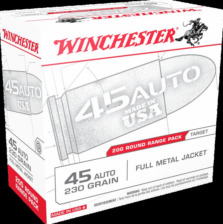 Winchester 45ACP 230GR FMJ - USA45W - 200RD Bulk Pack
