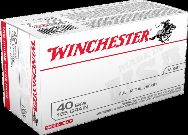 Winchester 40 S&W  165GR FMJ - USA40SWVP - 100RD Bulk Pack