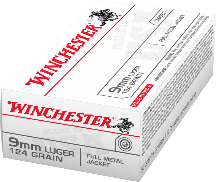 Winchester 9MM 124GR FMJ USA9MM - 500 Round Case