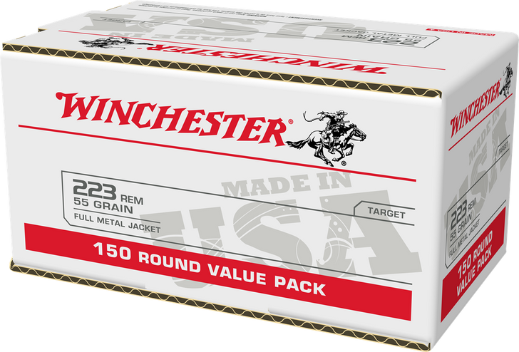 Winchester .223 55GR FMJ - W223150 - 600RD CASE - Special Bulk Pricing