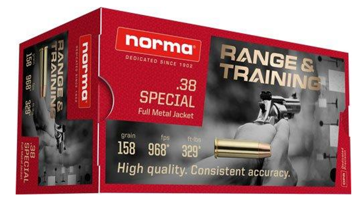 Norma .38 Special 158gr FMJ - New Brass - 50rd Box