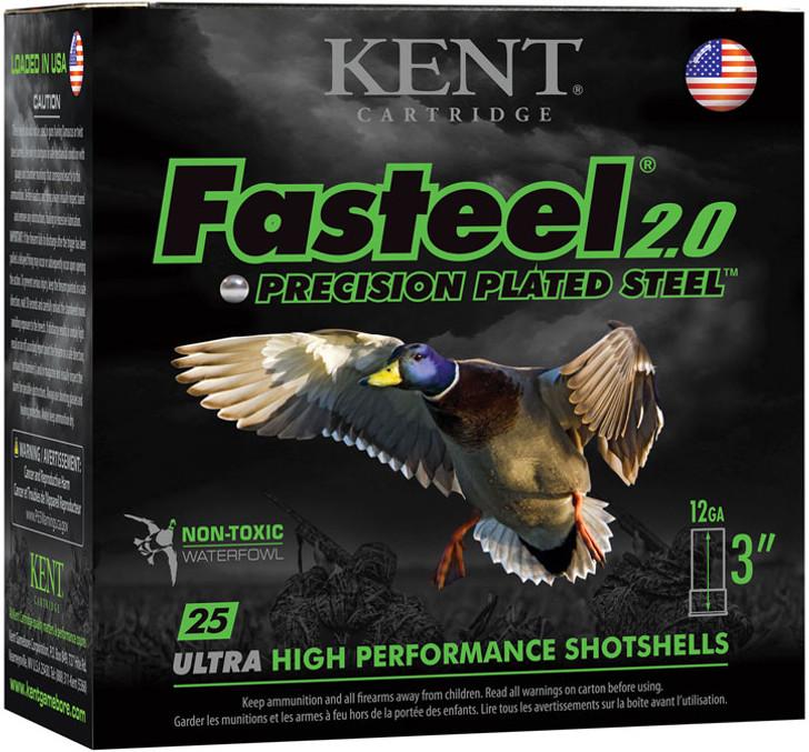 Kent Fasteel 2.0 Shotshells - K123FS402 - 12 Gauge - 3in - 1 -3/8 oz - 1300 fps - #2 Shot - 25rd Box