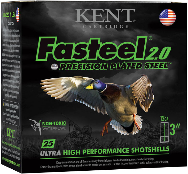 Kent Fasteel 2.0 Shotshells - K123FS32-2 - 12 Gauge - 3in - 1 -1/8 oz - 1560 fps - #2 Shot - 25rd Box