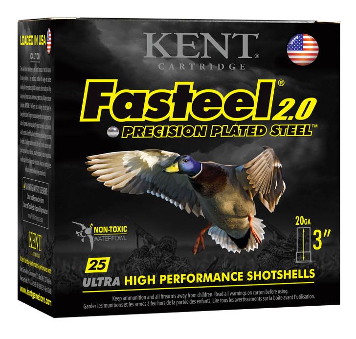 Kent Fasteel 2.0 Shotshells - K203FS24-3 - 20 Gauge - 3in -  7/8- oz - 1550 fps - #3 Shot - 25rd Box