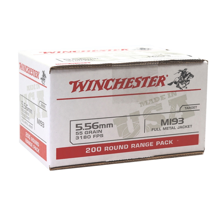 Winchester 5.56  55GR FMJ - WM193200 - 200 Round Box