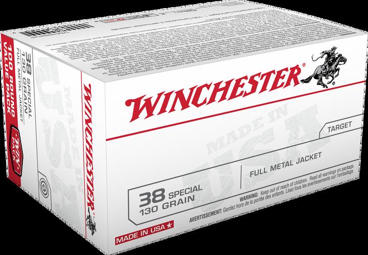 Winchester .38 Special 130GR FMJ - USA38SPVP- 100RDs Bulk