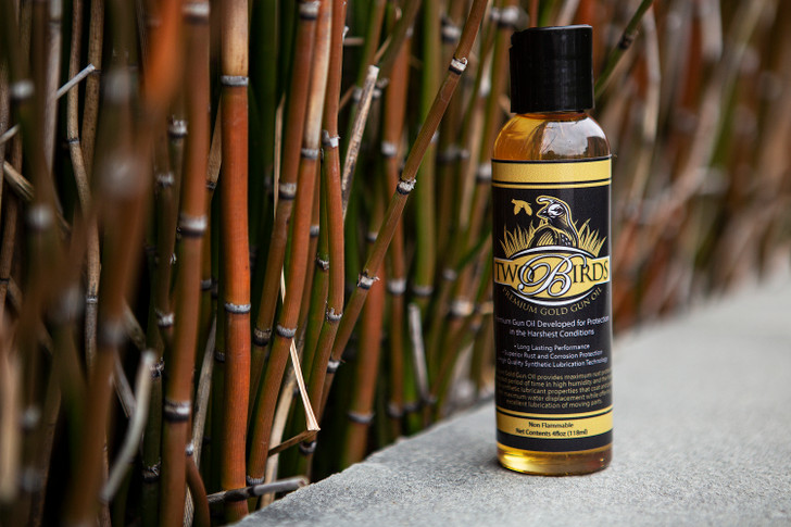 Two Birds Gun Oil/ Lubricant - MADE IN USA - 4oz Bottle