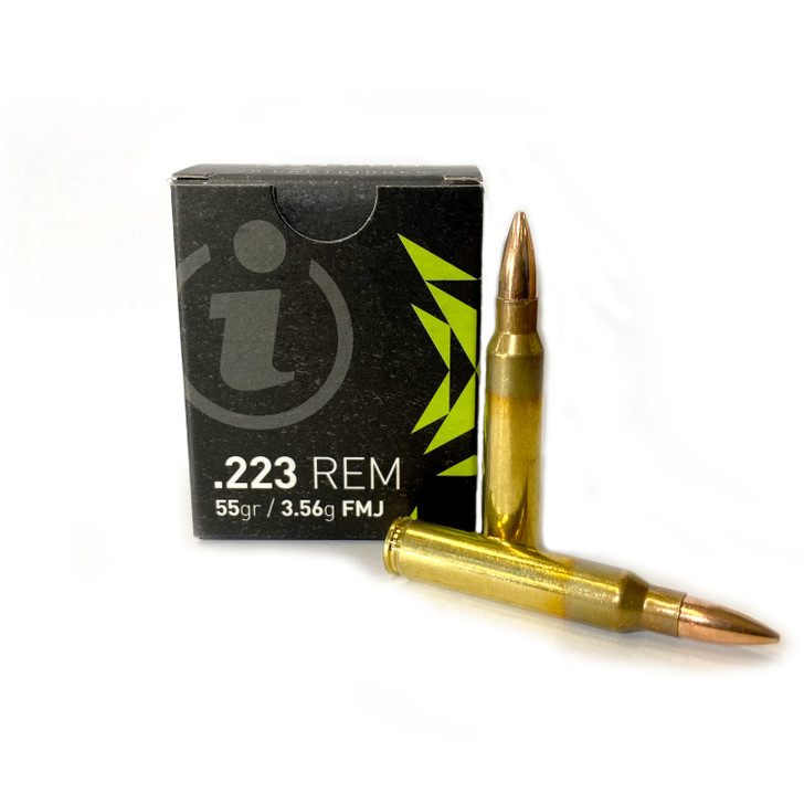 IGMAN .223 Rem 55GR Full Metal Jacket - Brass - 1,000rd Case