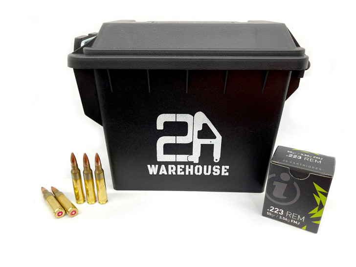 IGMAN .223 Rem 55GR Full Metal Jacket - Brass - 300rds - FREE AMMO CAN