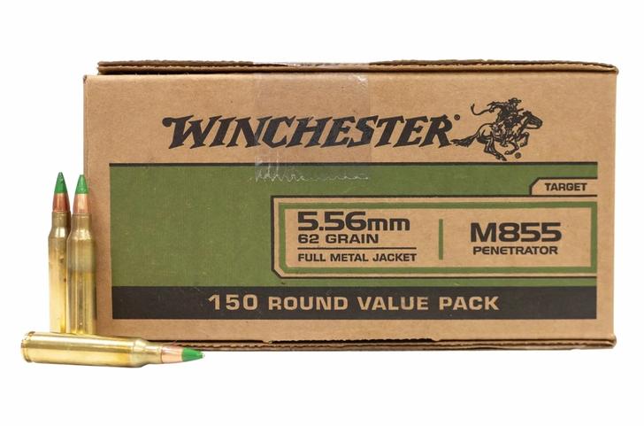 Winchester 5.56 - 62GR M855 - Green Tip - 150RD Bulk Pack
