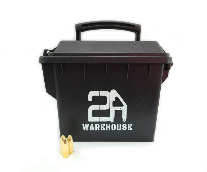 9MM 115GR Full Metal Jacket - Brass - 250rds - FREE AMMO CAN