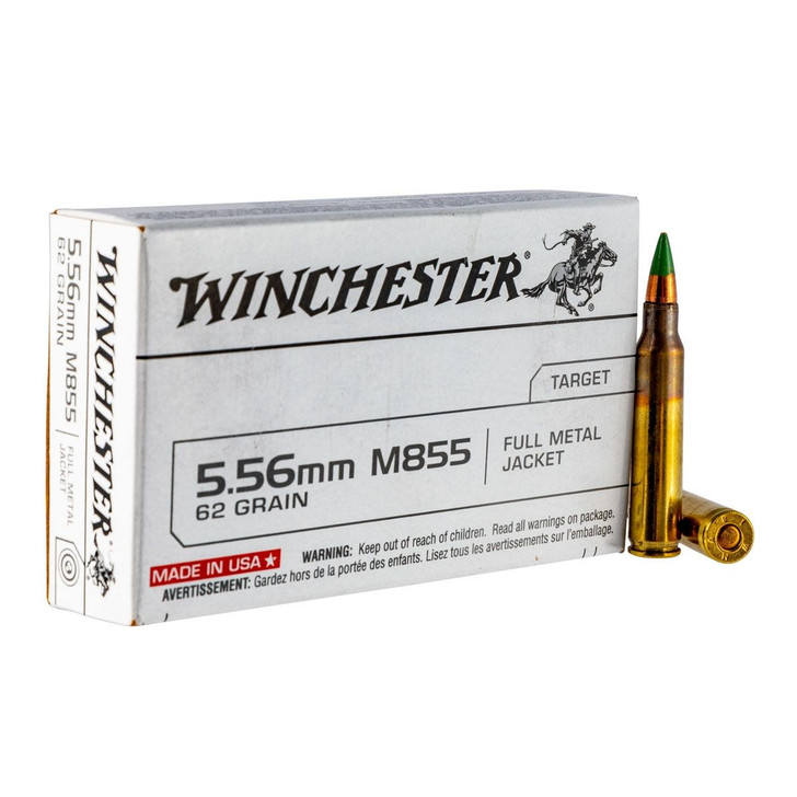 Winchester 5.56 - 62GR M855 Green Tip - 20 Round Box (Q3269)