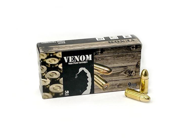 VENOM 9MM 115GR Full Metal Jacket - Brass - 1,000 Round Case