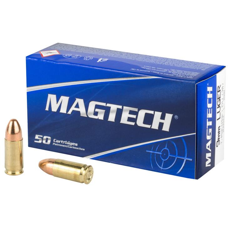 Magtech 9MM  115GR FMJ NEW  Brass - 9A - 50 Round Box
