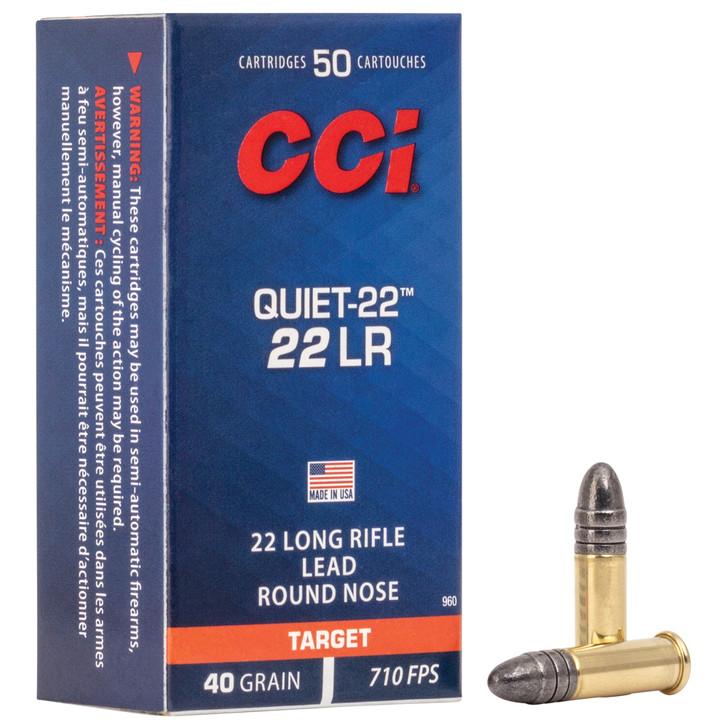 CCI 22LR 40GR RN - Quiet 22 - CCI960 - 50 Round Box