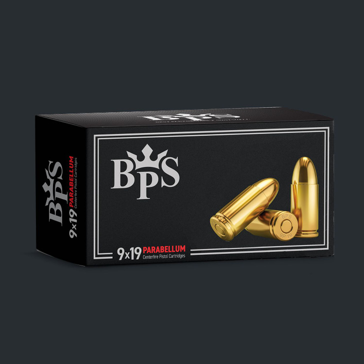 BPS 9MM 124GR FMJ -  Brass Case - 1,000rds