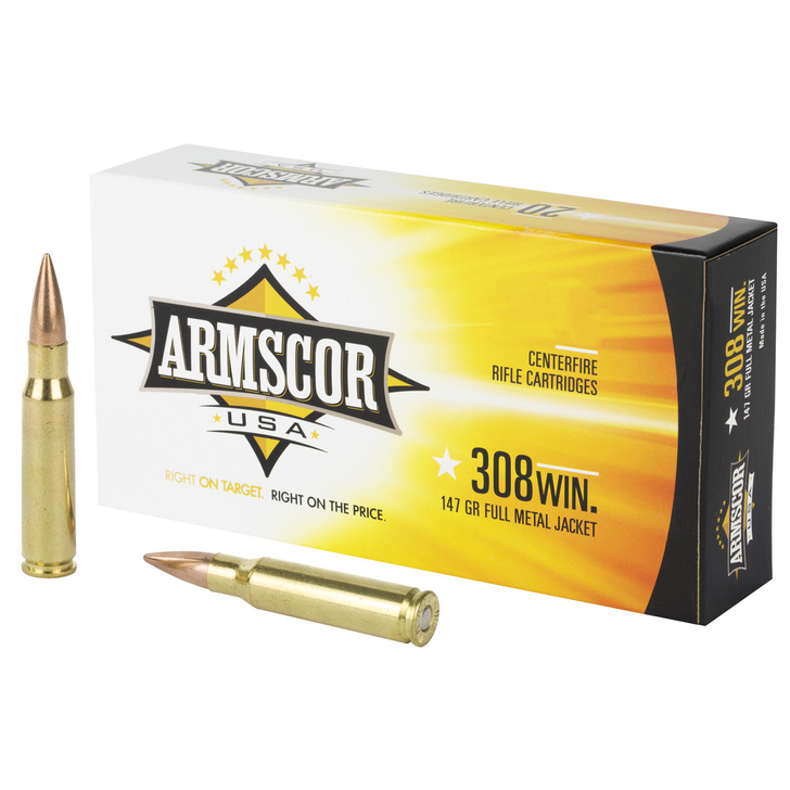 Armscor .308 Win 147GR FMJ - 250 Round Bulk Pack