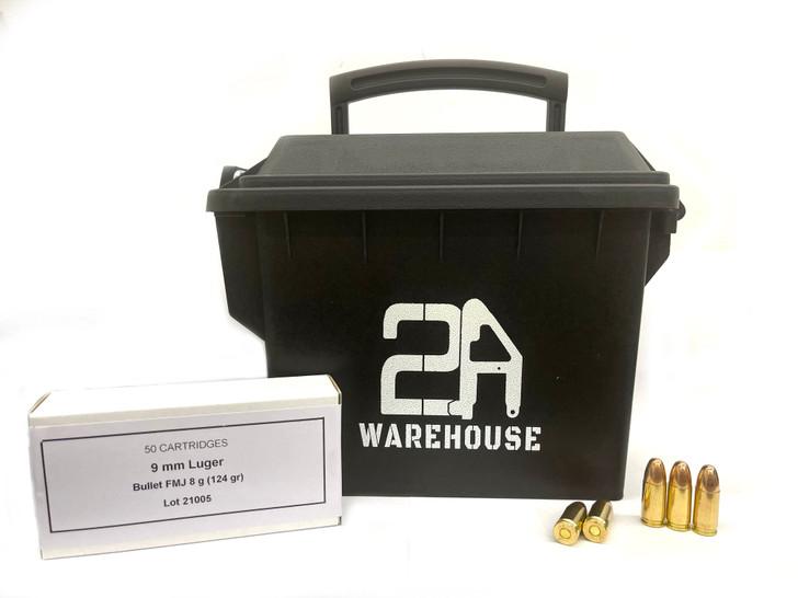 PPU (Prvi Partizan) 9mm 124GR FMJ -New Brass - 250 Round Ammo Can
