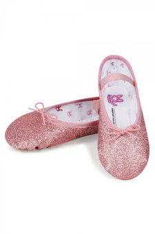 Bloch GlitterDust Full Sole Ballet Shoes in Pink