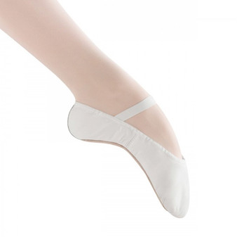 Bloch Dansoft White Leather Full Sole Ballet Flat