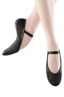 Bloch Dansoft Black Leather Full Sole Ballet Shoes