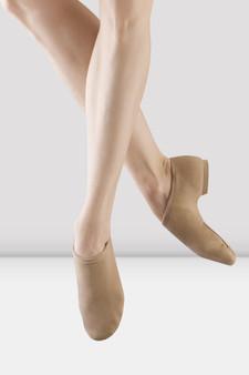 Bloch #S0473 Phantom Canvas Jazz Shoe in Tan