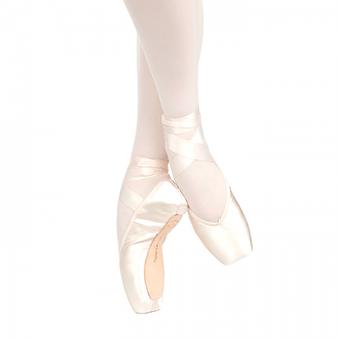 Russian Pointe Brava pointe shoes, u-cut with drawstring.