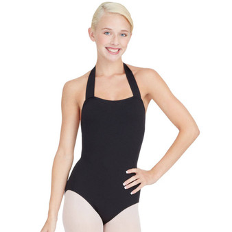 TB150C  Black Halter Leotard KM