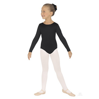 10408 Girls Long Sleeve Basic Leotard