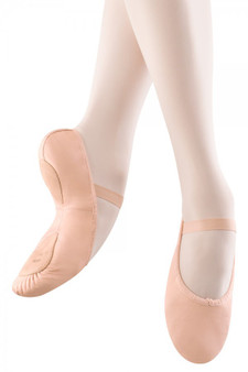 split sole leather ballet flat
