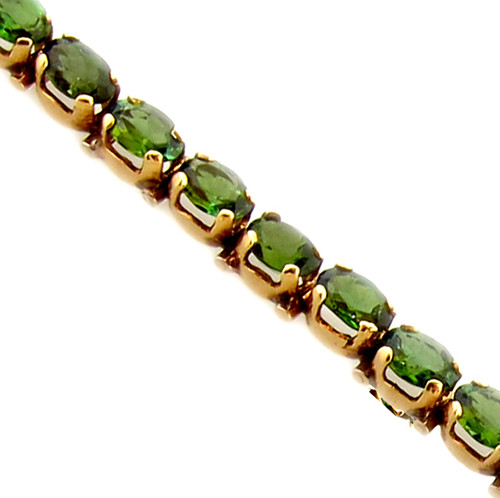 Lady's Contemporary Green Tourmaline Bracelet