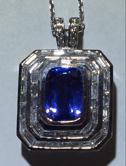Lady's Incredible Tanzanite & Diamond Pendant