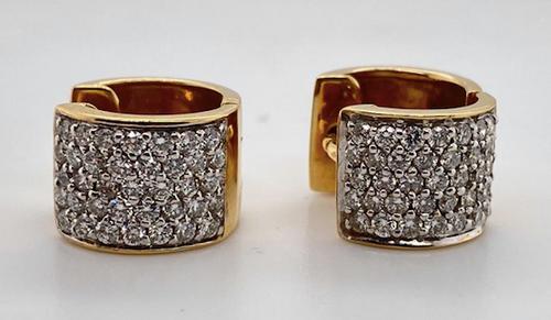 Lady's Custom Diamond Huggie Earrings