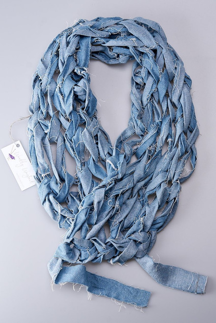 Denim Knitted Scarf