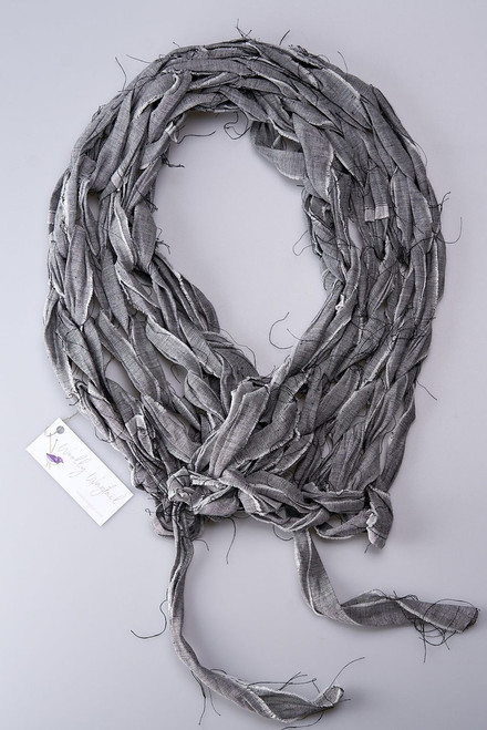 Cotton Linen Blend Knitted Scarf