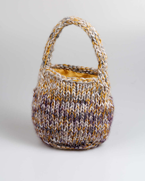 Lavender - Small  Knitted Bag
