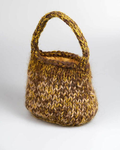 Brown - Large Knitted Bag