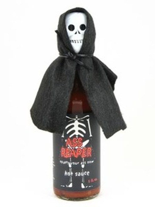 Ass Reaper Hot Sauce with Skull Cap
