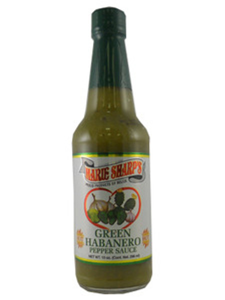 Marie Sharp's Green Habanero Hot Sauce with Prickly Pears | 10 oz.