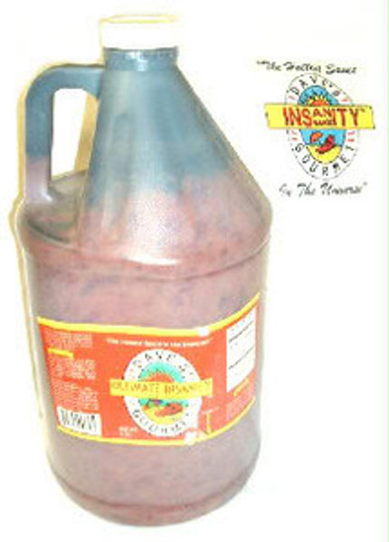 Dave's Ultimate Insanity Hot Sauce Gallon