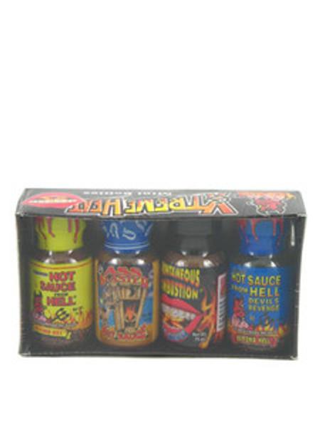 Xtreme Heat Mini Bottle Hot Sauce Four Pack