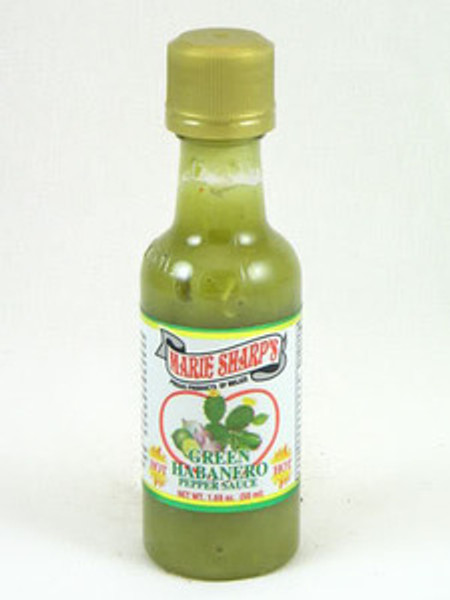 Marie Sharp's Green Habanero Hot Sauce Mini with Prickly Pears