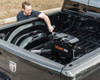 Man checking fitted Curt Q20 hitch into truck - 612314160457