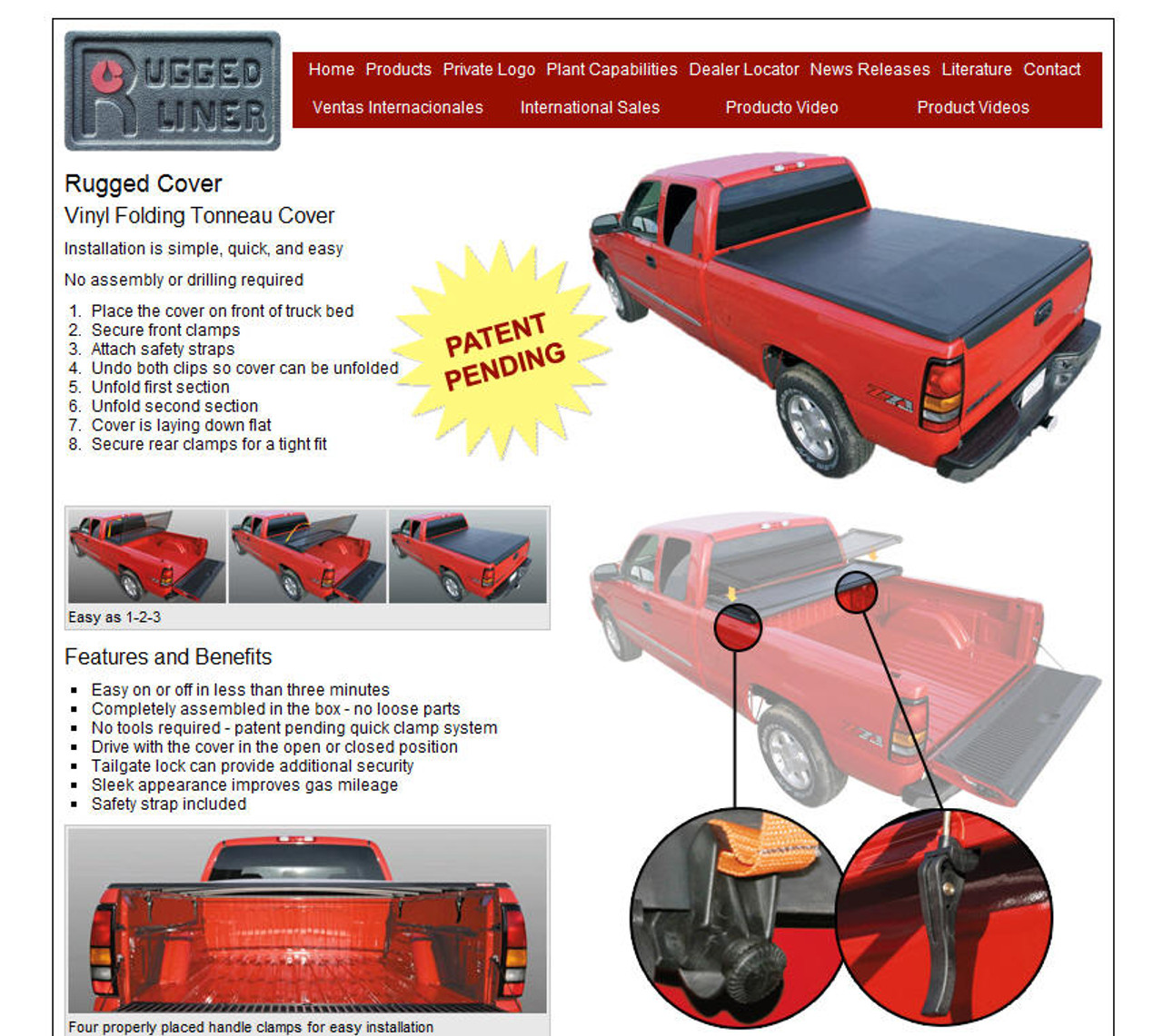 New Rugged Cover Folding Tonneau Cover Tj S Truck Store