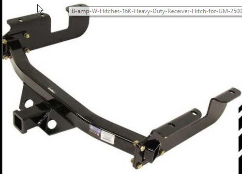 "B+W 16K HD Receiver Hitch 1988-09 GM Cab Chassis  HDRH25198 34"" Frame 8"" Drop"