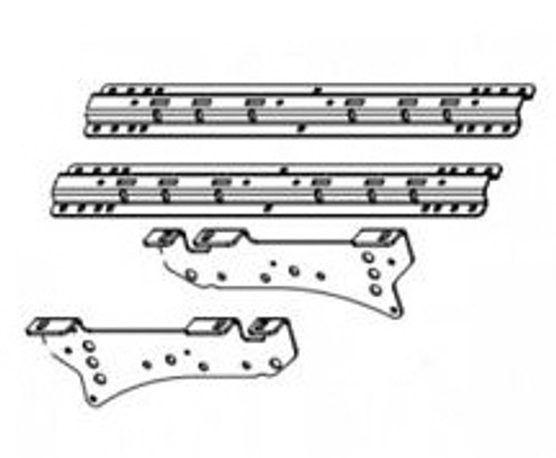 B+W RVK 2505  5th Wheel Hitch Mounting Rail Kit 2020 and up Chevrolet a GMC 2500 + 3500 except trucks with Carbon Pro Bed
